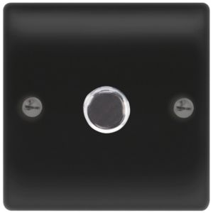View Nexus Matt Black 1-Gang Push On/Off with Rotary Dimming 400W Dimmer Switch details
