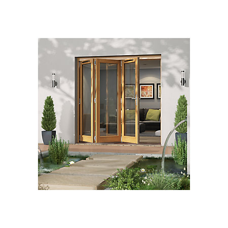 Timber glazed sliding folding patio door h 2094mm w for Fold out patio doors