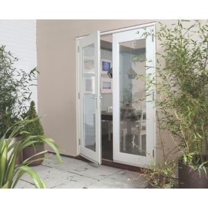 View Clear Glazed Pre-Finished External French Door Set, (H)2105mm (W)1505mm details