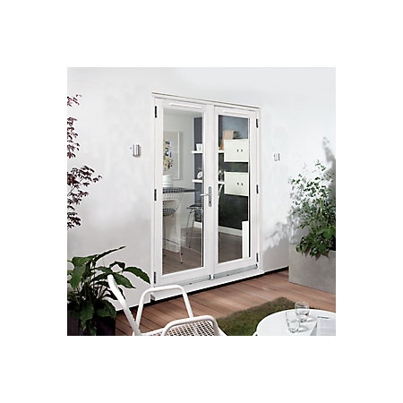 Clear Glazed White Fully Finished Timber External French Door Set H 2094mm