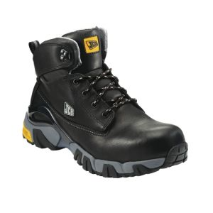 View JCB Black Waterproof Leather Boots, Size 11 details