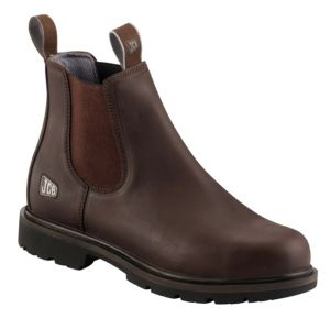 View JCB Agmaster Brown Waterproof Leather Boots, Size 11 details