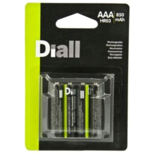 View Diall Premium Rechargeable AAA Batteries, Pack of 4 details
