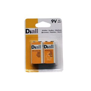 View Diall Single Use 9V Alkaline Batteries Pack of 2 details