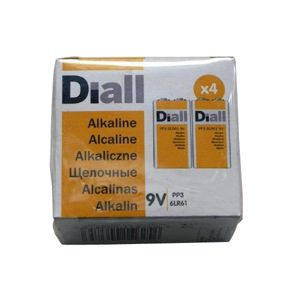 View Diall 9V Alkaline Batteries, Pack of 4 details