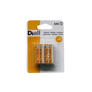 View Diall AAA Alkaline Batteries, Pack of 8 details