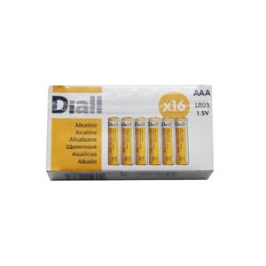 View Diall AAA Alkaline Batteries, Pack of 16 details