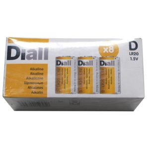 View Diall Single Use D Alkaline Batteries Pack of 8 details