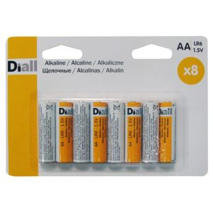 View Diall Single Use AA Alkaline Batteries Pack of 8 details
