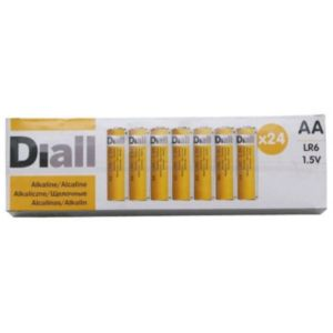 View Diall Single Use AA Alkaline Batteries Pack of 24 details