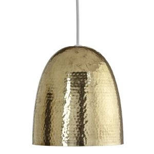 View Colours Barock Brass Effect Hammered Light Shade (D)20cm details