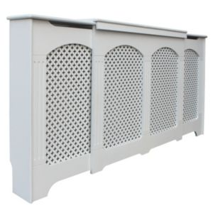 View Adjustable Medium - Large White Cambridge Radiator Cover details