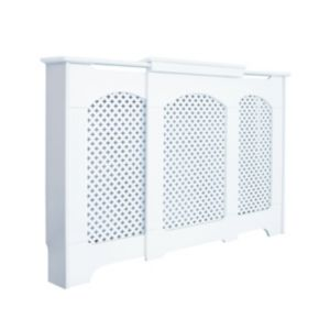 View Adjustable Small - Medium White Cambridge Radiator Cover details