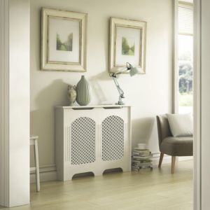View Cambridge Small White Painted Radiator Cover details