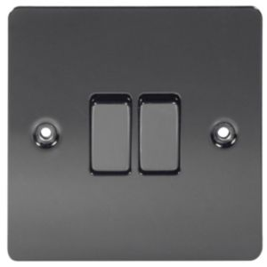 Image of LAP 10A 2-Way Double Light switch