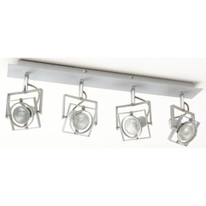 View Spray Silver Chrome Effect 4 Lamp Bar Spotlight details