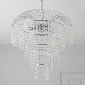 View Chatelet Chrome Effect 2 Lamp Pendant Ceiling Light details