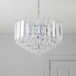 View Procopio Chrome Effect 2 Lamp Pendant Ceiling Light details