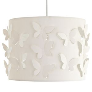 View Colours Carriera Cream Butterfly Cut Out Light Shade (D)30cm details