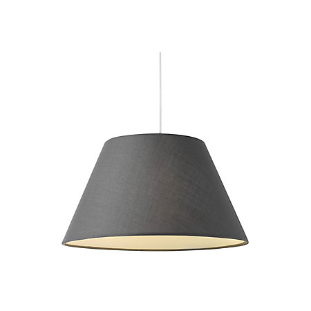 colours eos anthracite linen effect tapered drum light shade d. Black Bedroom Furniture Sets. Home Design Ideas