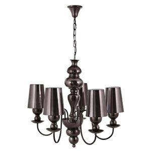 View Sansouci Black Bronze Effect 5 Lamp Pendant Ceiling Light details