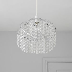 View Colours Carbucca Crystal Effect Beaded Spiral Light Shade (D)30cm details