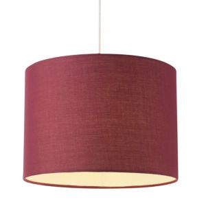 View Colours Fairbank Maroon Drum Light Shade details