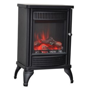 View Blyss Orebro LED Display Electric Freestanding Stove, Cast Iron Effect details