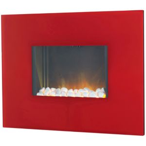 View Blyss Bologna Red LED Display Remote Control Wall Hung Electric Fire details