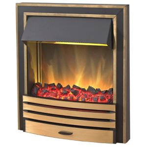 Image of Blyss Arkansas Brass Effect Inset Electric Fire