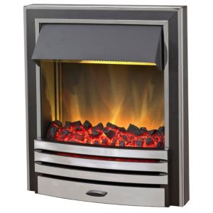 Image of Blyss Arkansas Chrome Effect Inset Electric Fire