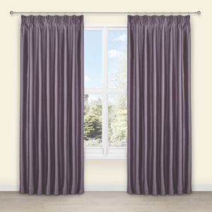 View Villula Wisteria Plain Faux Silk Pencil Pleat Curtains (W)167cm (L)183cm details