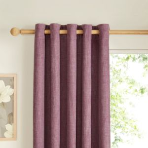 View Carina Blueberry & Purple Plain Woven Eyelet Curtains (W)117cm x (L)137cm details
