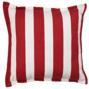 View Arrica Wide Stripe Red & White Cushion details