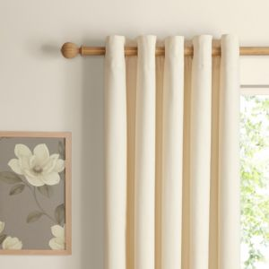 View Zen Ecru Plain Eyelet Curtains (W)228cm (L)228cm details