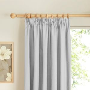 View Prestige Ecru Plain Pencil Pleat Curtains (W)228cm (L)228cm details