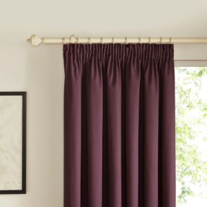 View Prestige Blueberry Plain Pencil Pleat Curtains (W)167cm (L)228cm details