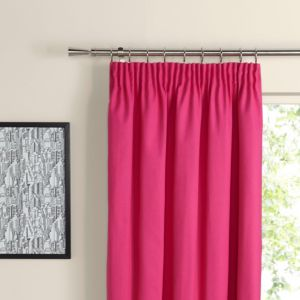 View Prestige Fuchsia Plain Pencil Pleat Curtains (W)228cm x (L)228cm details
