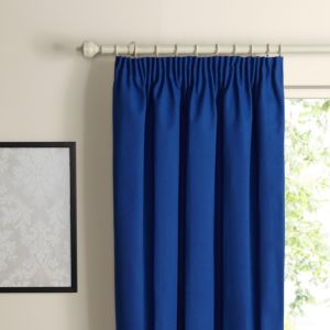 View Prestige Navy Plain Pencil Pleat Curtains (W)228cm x (L)228cm details