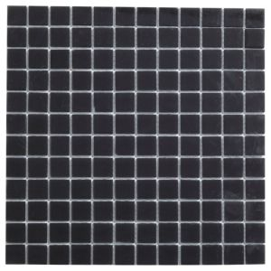 View Frosted Glass Black Glass Mosaic Tile, (L)300mm (W)300mm details