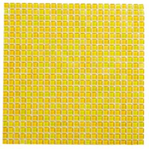 View Yellow Mosaic Glass Mosaic Tile, (L)300mm (W)300mm details