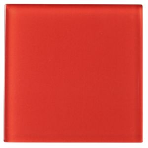 View Red Glass Wall Tile, (L)98mm (W)98mm details