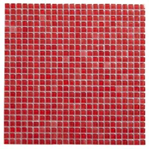 View Red Mosaic Glass Mosaic Tile, (L)300mm (W)300mm details