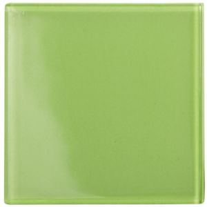 View Lime Glass Wall Tile, (L)98mm (W)98mm details