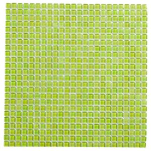 View Lime Patterned Glass Mosaic Tile, (L)300mm (W)300mm details