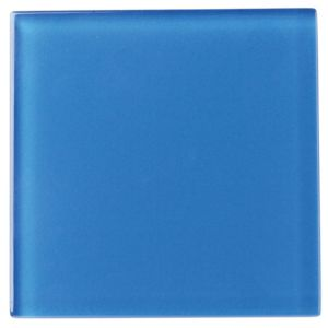 View Blue Glass Wall Tile, (L)98mm (W)98mm details