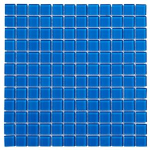 View Blue Glass Mosaic Tile, (L)300mm (W)300mm details