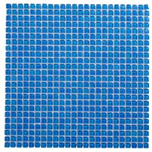 View Colours Blue Glass Mosaic Tile (W)300mm (L)300mm details