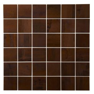 View Brown Bronze Mosaic Tile, (L)300mm (W)300mm details