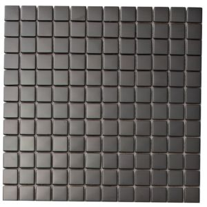 View Colours Black Stainless Steel Mosaic Tile (W)300mm (L)300mm details